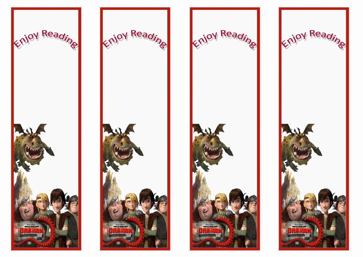 How To Train Your Dragon Bookmarks | Bookmakers | How Train Your - Free Printable Dragon Bookmarks