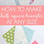 Hst Tutorial: Triangle Papers | Blossom Heart Quilts   Printable Thangles Free