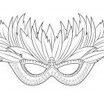 "I Love Coloring Ii ~ Venetian Mardi Gras Mask | Icolor ""the Arts   Free Printable Mardi Gras Masks"