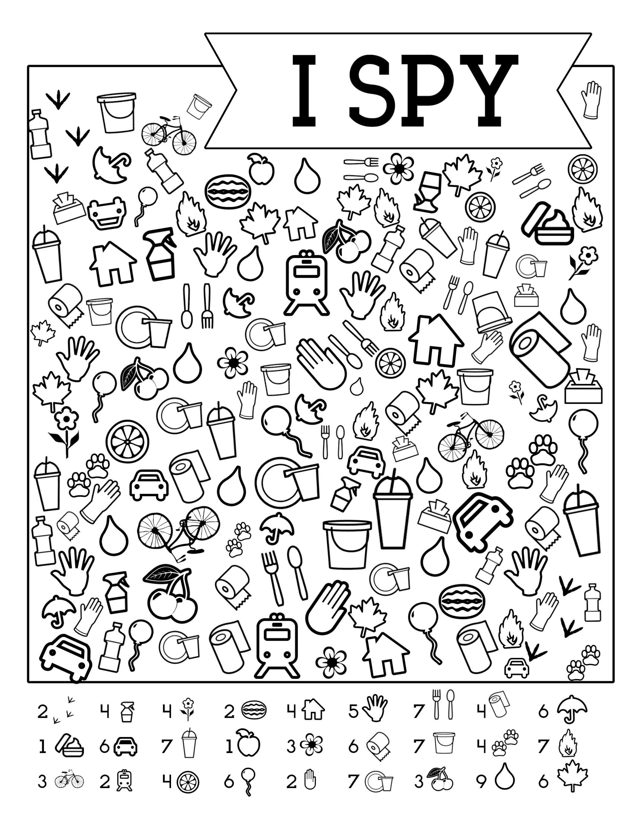 I-Spy-Free-Printable-Kids-Game   Spy School Camp   Spy Games For - Free Printable Hoy Sheets