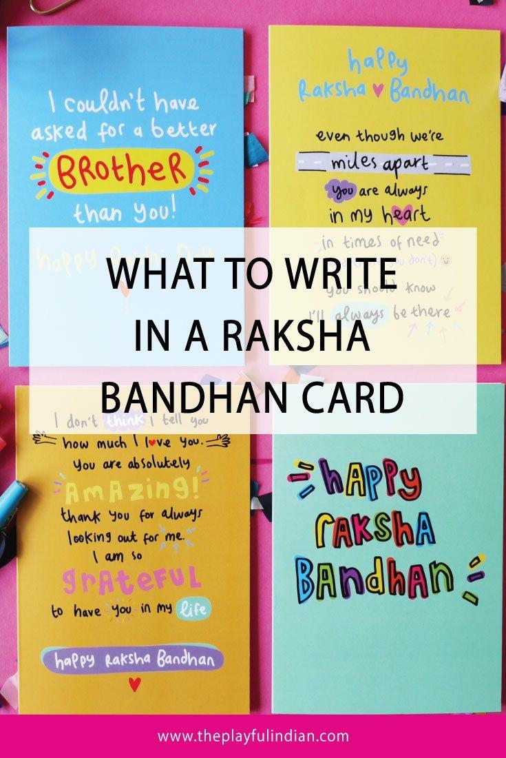 Ideas On What To Write In A Raksha Bandhan Card   Rakhi   Raksha - Free Online Printable Rakhi Cards