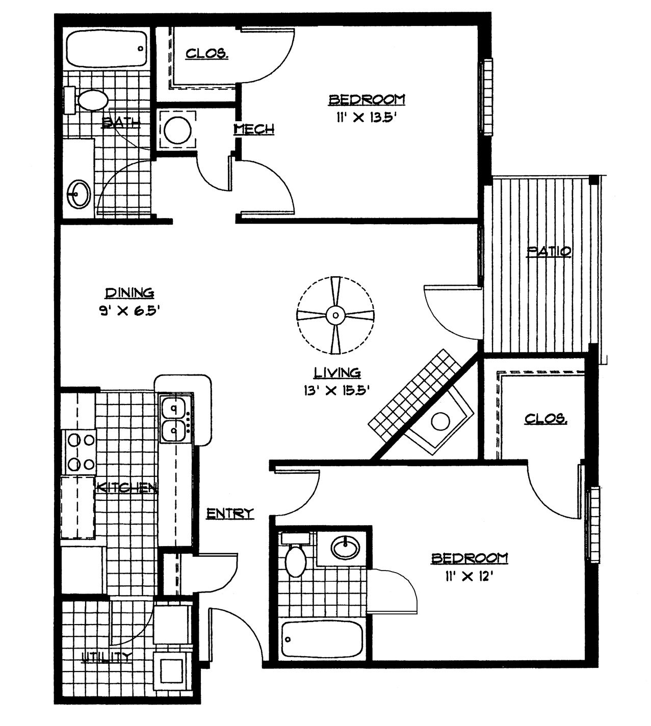 Image Result For 2 Bedroom House Plans Pdf Free Download | Sharp - Free Printable Small House Plans
