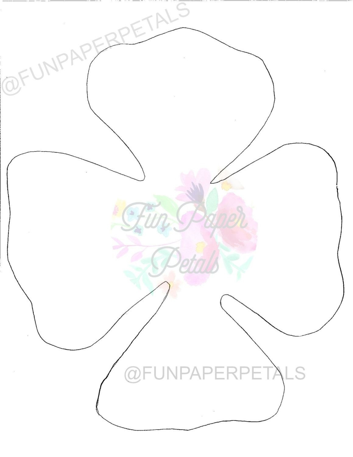 Image Result For Free Printable Paper Rose Templates | Paper Flowers - Free Printable Flower Template