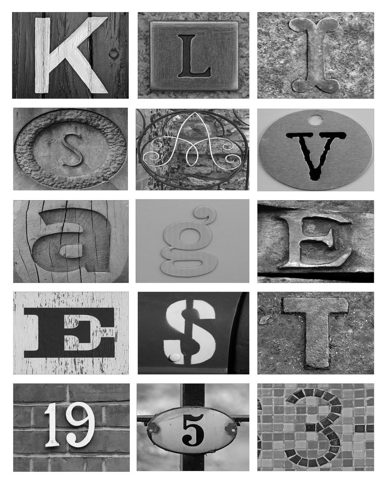 In This Crazy Life: Diy Letter Art On The Cheap! - Free Printable Alphabet Photography Letters