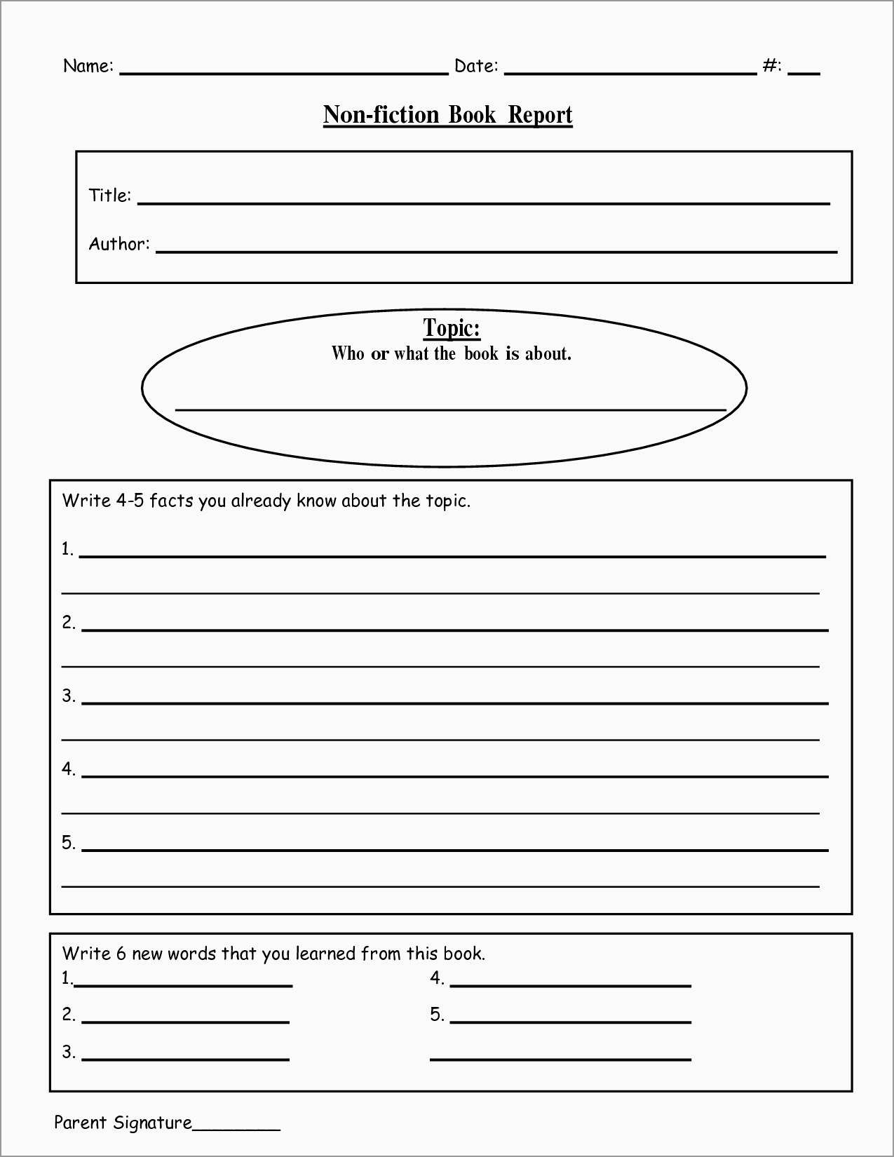 Inspirational 2Nd Grade Book Report Template Free | Best Of Template - Free Printable Book Report Forms For Second Grade