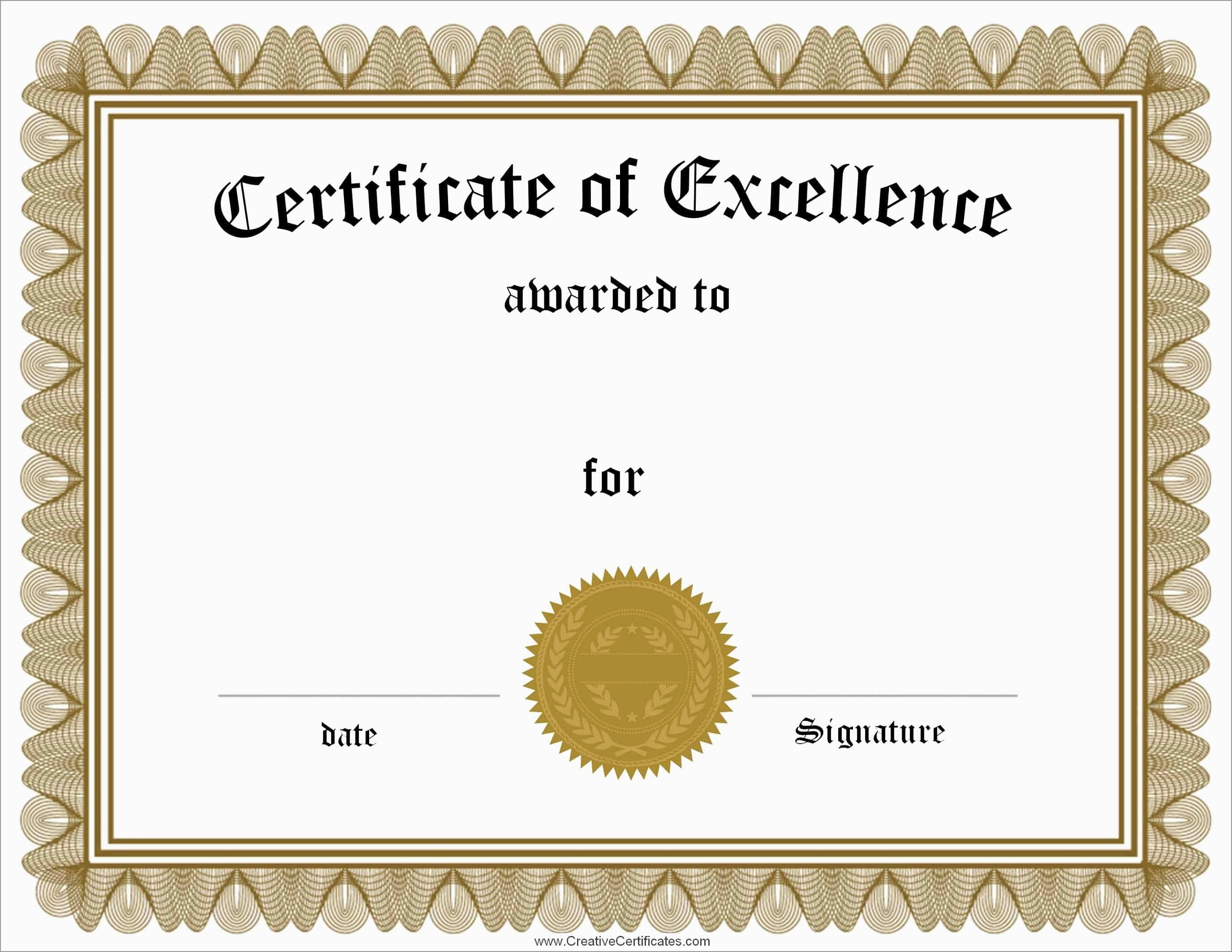 Inspirational Award Certificate Template Free   Best Of Template - Free Customizable Printable Certificates Of Achievement