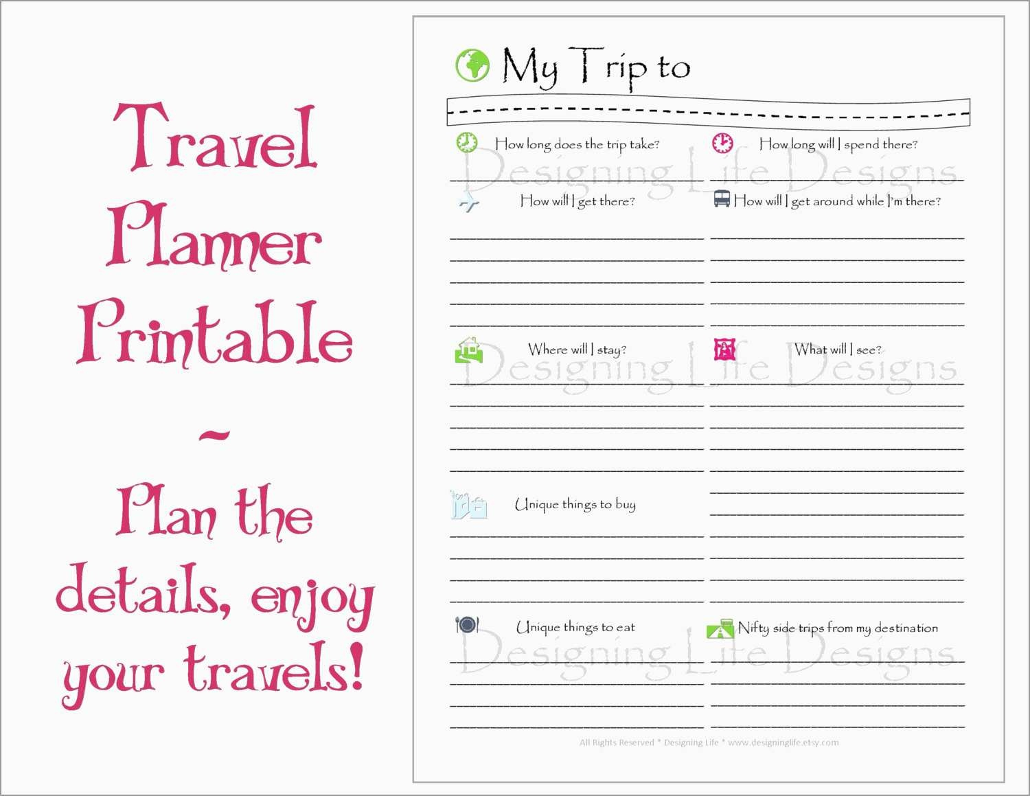 Inspirational Free Travel Itinerary Template | Best Of Template - Free Printable Itinerary