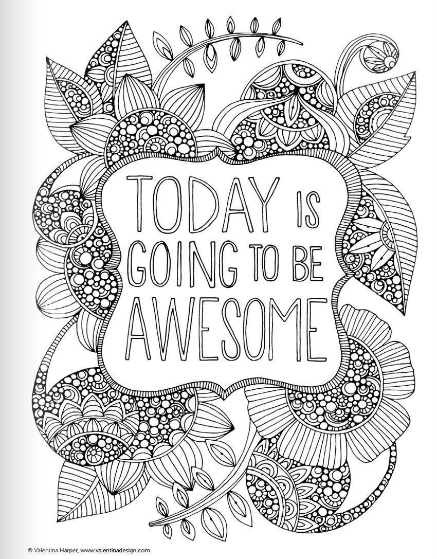 Inspirational Quotes Coloring Book For Adults | Inspirational Quotes - Free Printable Quote Coloring Pages For Adults