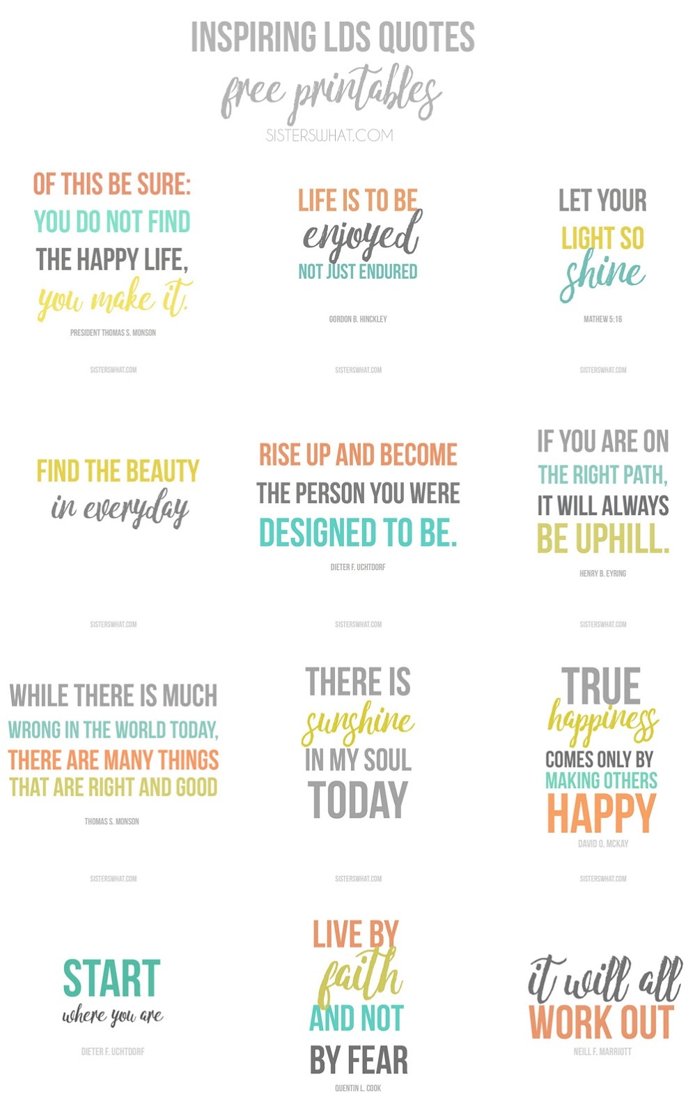 Inspirational Quotes Free Printables - Sisters, What! - Free Printable Inspirational Quotes