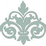 Instant Art Printable Downloads   Damask Flourish   3 Options   The   Damask Stencil Printable Free