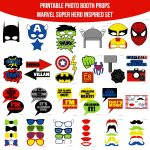 Instant Download Marvel Super Hero Inspired Printable Photo Booth   Free Printable Superhero Photo Booth Props