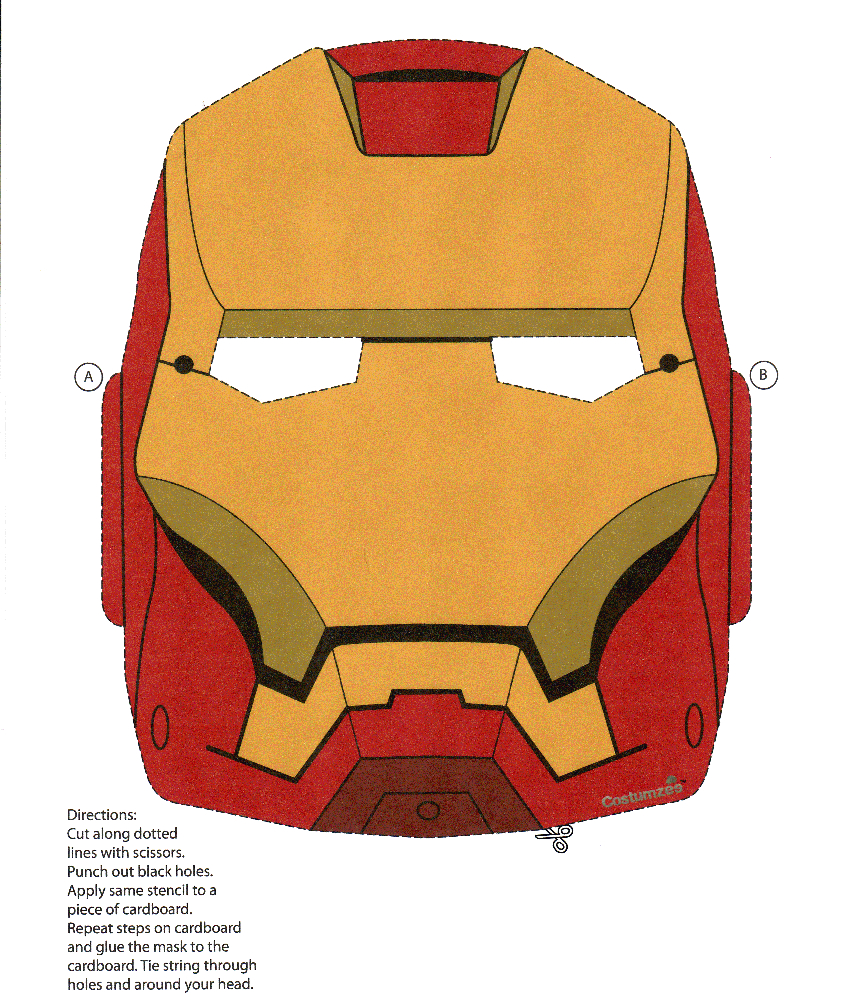 Iron Man Mask | Print Ironman Mask | Kiddos | Iron Man, Superhero - Free Printable Ironman Mask