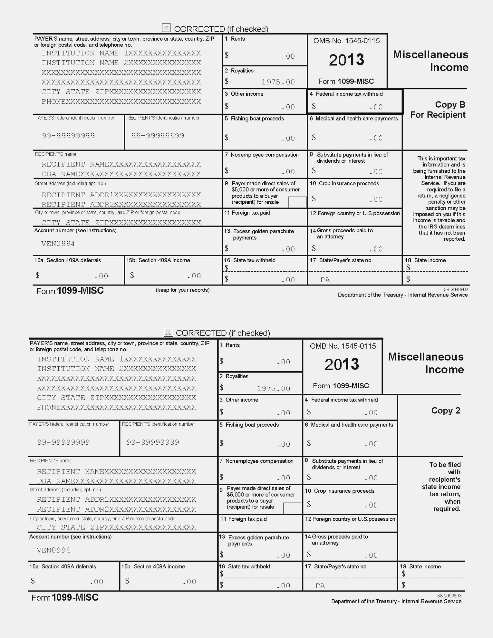 Irs Form 11 11 Gallery – Free Form Design Examples – Printable 1099 - Free Printable 1099 Misc Form 2013