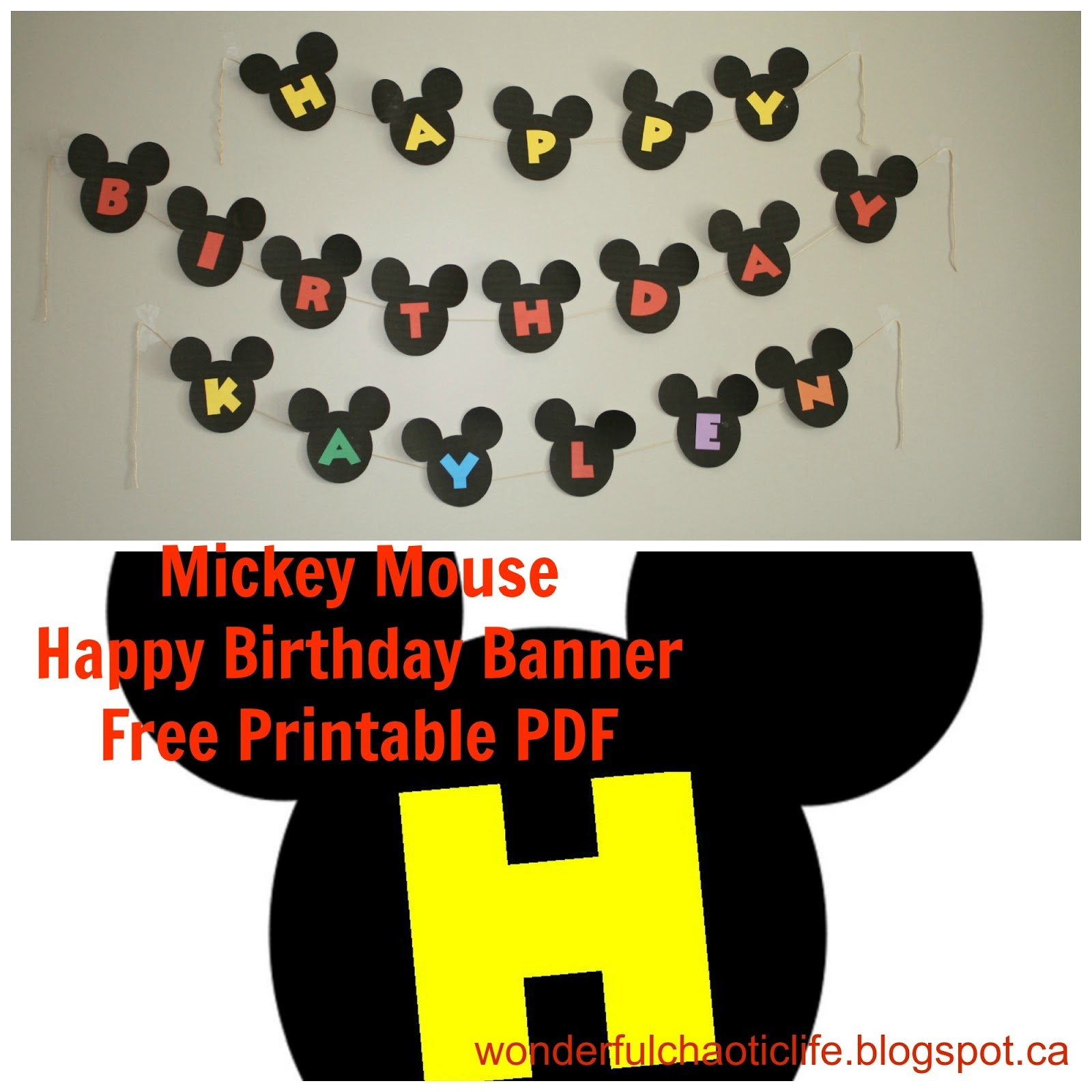 It's My Wonderful Chaotic Life: Mickey Mouse Birthday Party Free - Free Printable Mickey Mouse Birthday Banner