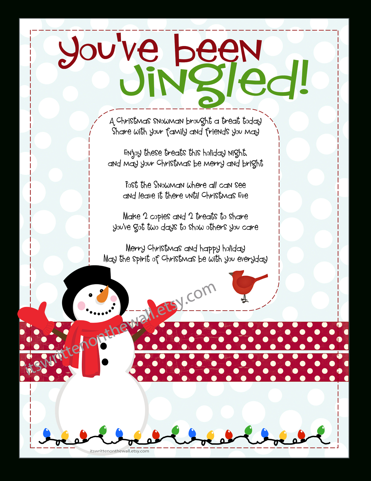 It's Written On The Wall: Christmas You've Been Jingled + Cute Way - You Ve Been Socked Free Printable