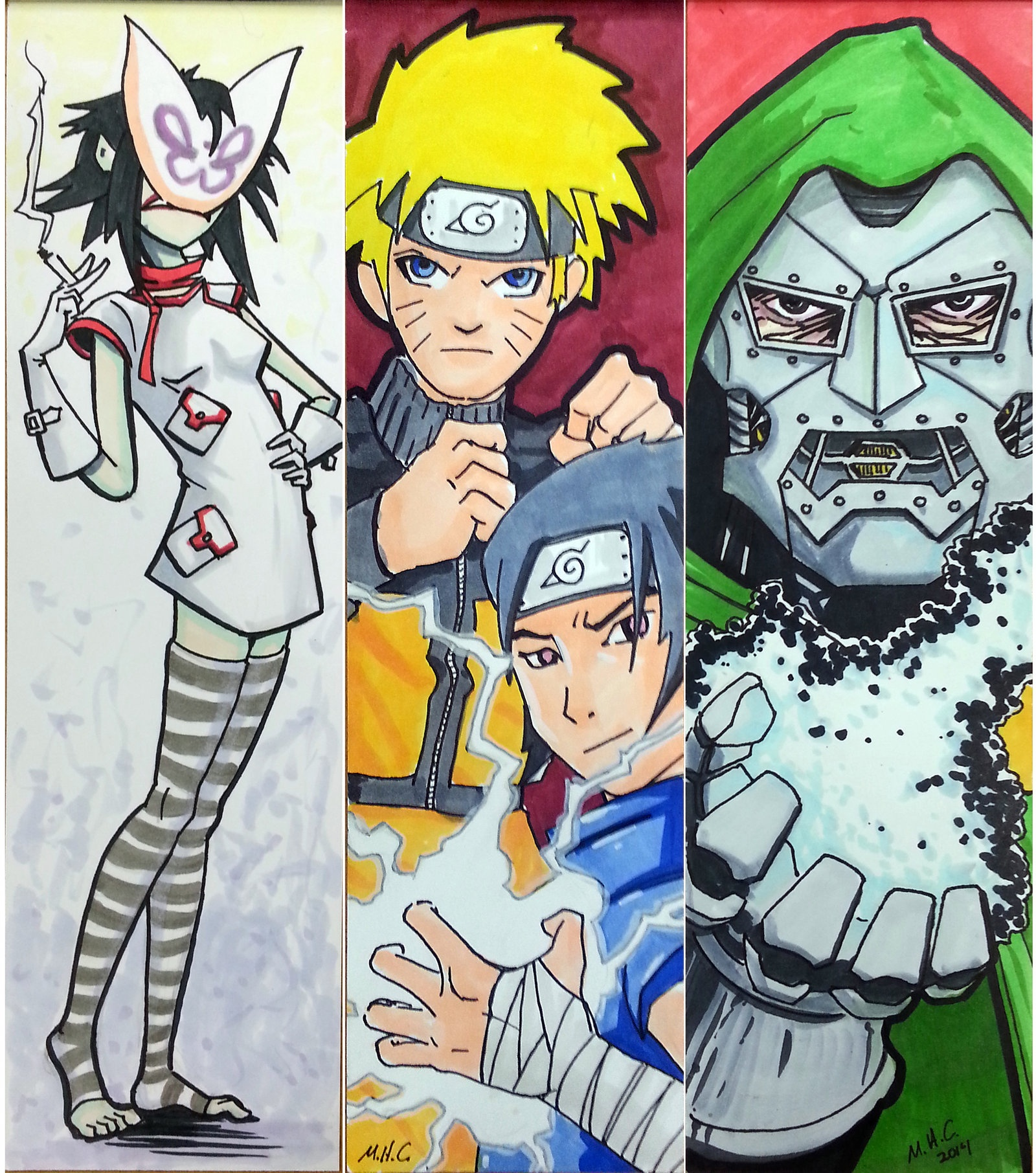Japanese Anime And Comics Bookmarks   Free Printable Papercraft - Anime Bookmarks Printable For Free