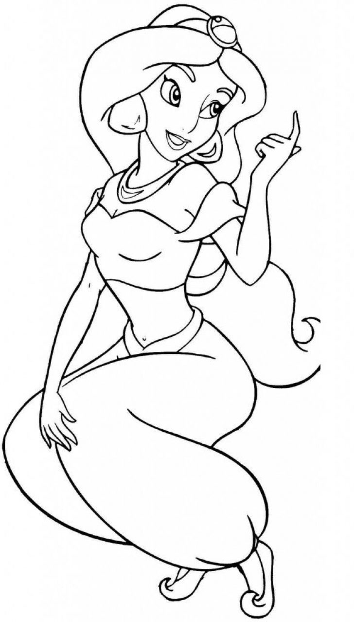 Jasmine Coloring Pages | Www.universoorganico - Free Printable Princess Jasmine Coloring Pages