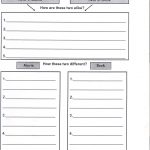 Jenks Schools Home Learning Language Arts   Grade 6   Compare   Free Printable Compare And Contrast Graphic Organizer