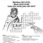 Jesus' Crucifixion Sunday School Crossword Puzzles: A Printable   Free Printable Sunday School Crossword Puzzles