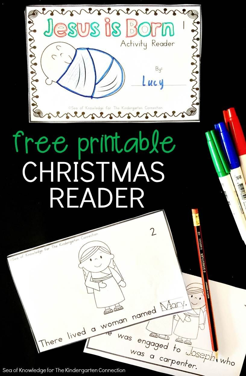 Jesus Is Born - Printable Christmas Reader | Kinderland - Free Printable Christmas Books For Kindergarten