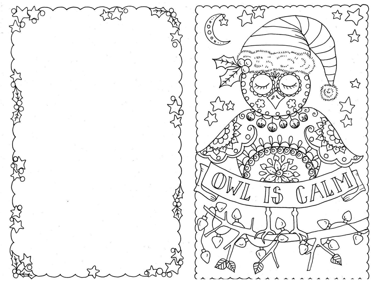 Jolly Christmas Coloring Pages Christmas Day Free Holiday. Do Your - Free Printable Color Your Own Cards