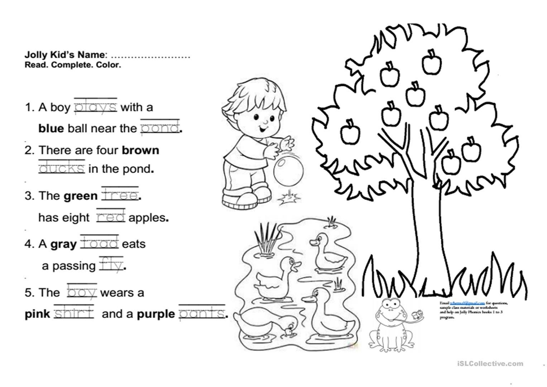 Jolly Phonics Book 3 Fun Final Test Worksheet - Free Esl Printable - Free Printable Phonics Books For Kindergarten