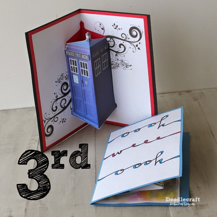 Jon Pertwee Pop Up Cards--3Rd Day Of Doctor Who! | Doodlecraft - Free Printable Dr Who Birthday Card