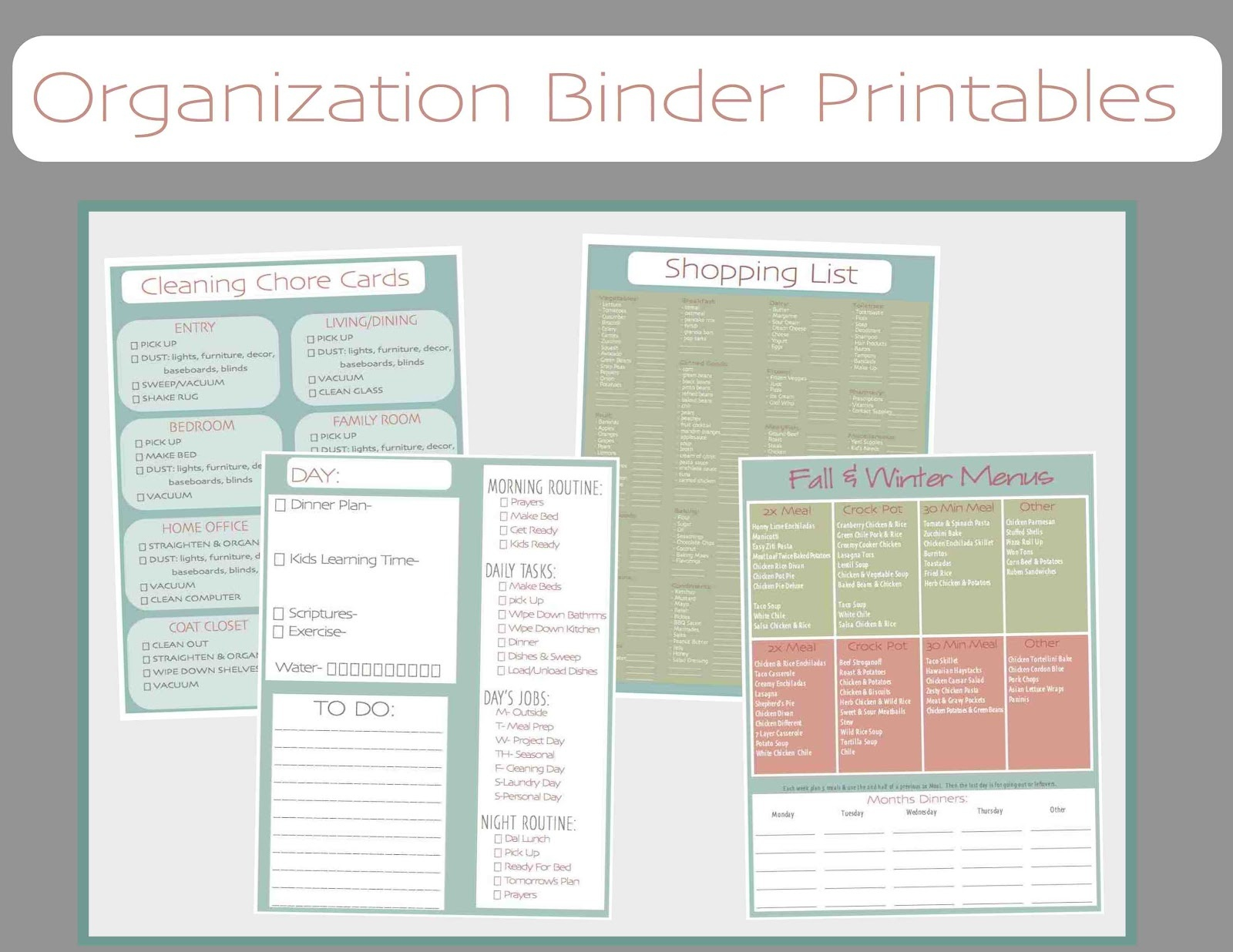Just Sweet And Simple: Free Printable Household Organization Binder - Free Printable Household Binder