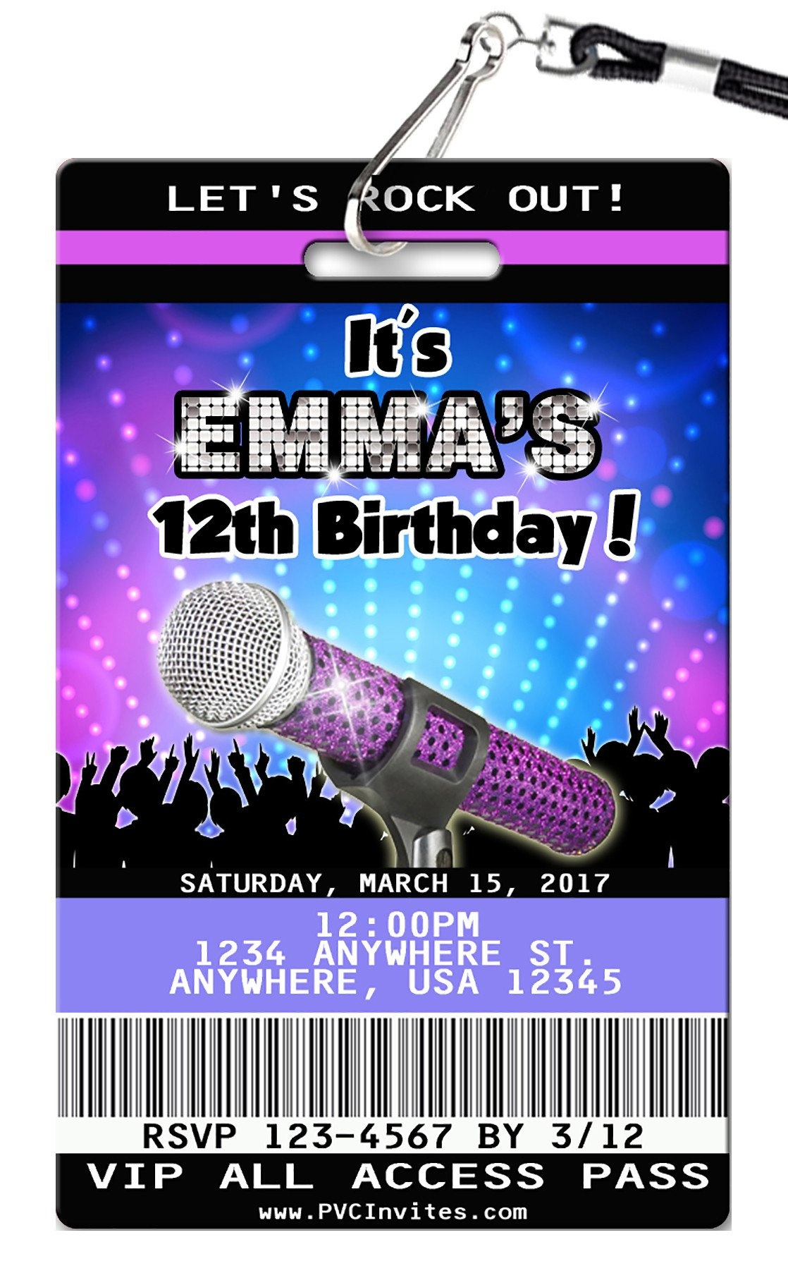 Karaoke Birthday Invitation In 2019   Kenzi's 8Th Kareoke Birthday - Free Printable Karaoke Party Invitations