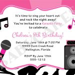 Karaoke Invitations Free   Free Printable Karaoke Party Invitations