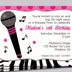 Karaoke Party Invitation Printable   Sing, Microphone, Rock Star   Free Printable Karaoke Party Invitations
