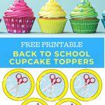 Kara's Party Ideas Free Printable Back To School Cupcake Toppers   Free Printable Train Cupcake Toppers