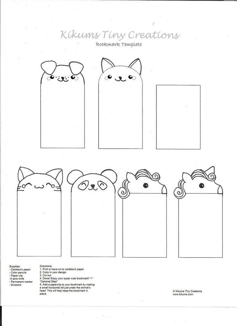 Kawaii Bookmark Free Templatekikums.deviantart On - Free Printable Bookmarks Templates
