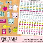 Kawaii Steps And Run Tracker Stickers For Your Planner   Free   Free Printable Kawaii Stickers