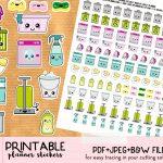 Kawaii Trash Bins Stickers   Free Printable And Cut File   Lovely   Free Printable Kawaii Stickers
