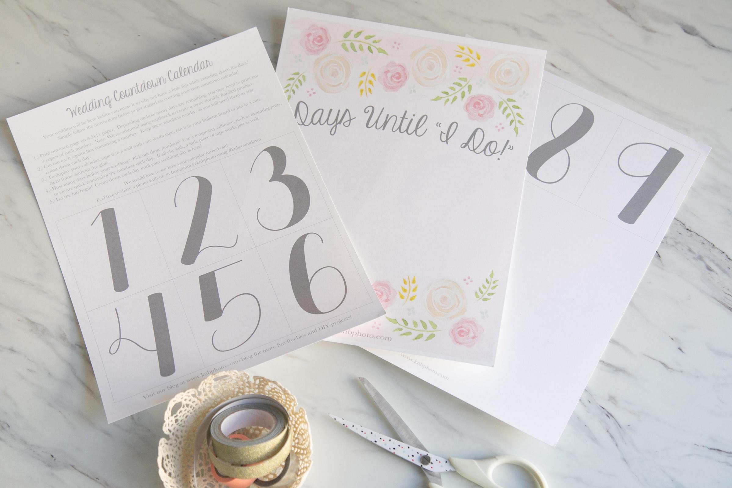 K+B Photography   Our Blog   Freebies: A Printable Wedding Countdown - Free Printable Wedding Countdown