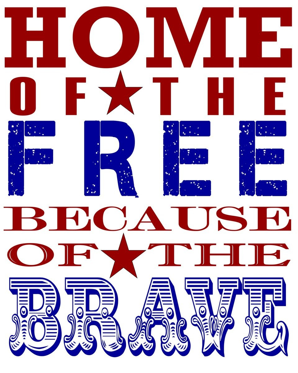 """Kevin T. Vagovic On Twitter: """"this Nation Will Remain The Land Of - Home Of The Free Because Of The Brave Printable"""