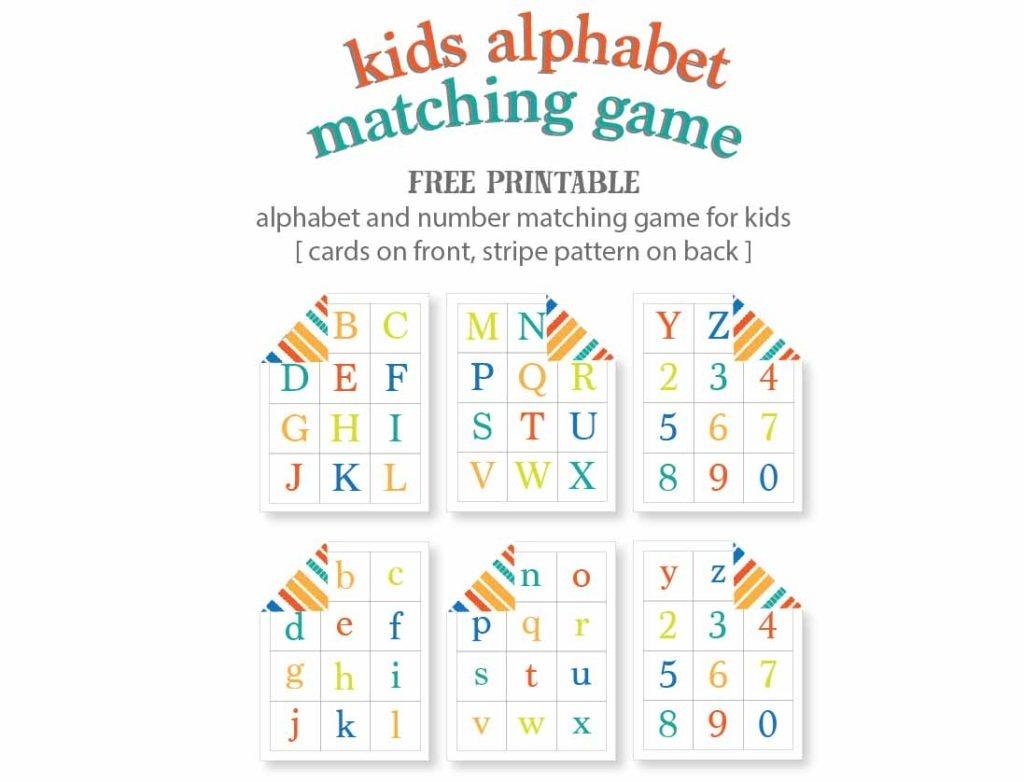 Kids Alphabet Matching Game - Free Printable | Live Craft Eat - Free Printable Alphabet Games