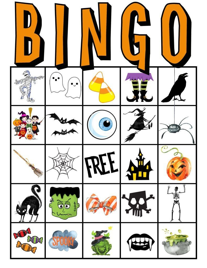 Kids Halloween Party Bingo Cards Free Printable | Classroom Parent - Free Printable Halloween Bingo