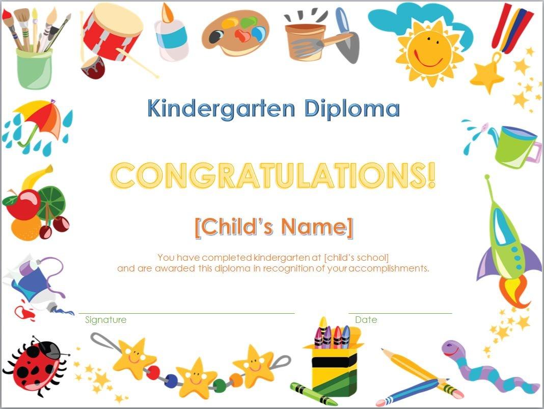 Kindergarten Graduation Certificates Printable - Tutlin.psstech.co - Free Printable Children's Certificates Templates