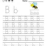 Kindergarten Letter B Writing Practice Worksheet Printable | Things   Free Printable Worksheets Handwriting Practice