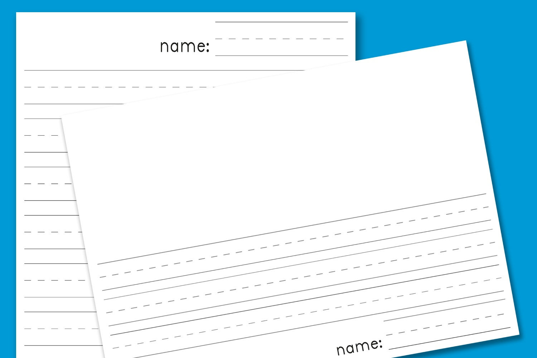 Kindergarten Lined Paper - Download Free Printable Paper Templates - Free Printable Kindergarten Lined Paper Template
