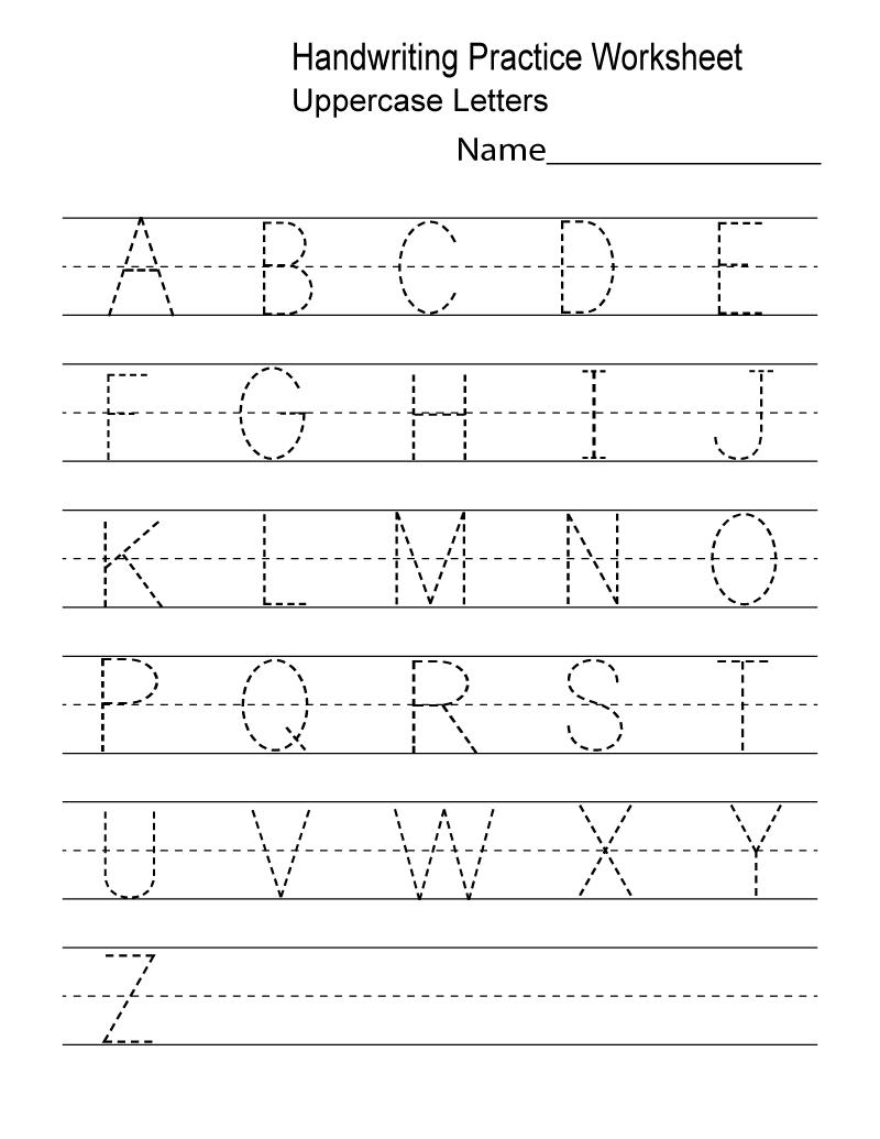 Kindergarten Worksheets Pdf Free Download Handwriting | Learning - Preschool Writing Worksheets Free Printable