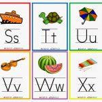 Kindergarten Worksheets: Printable Worksheets   Alphabet Flash Cards 4   Free Printable Alphabet Flash Cards
