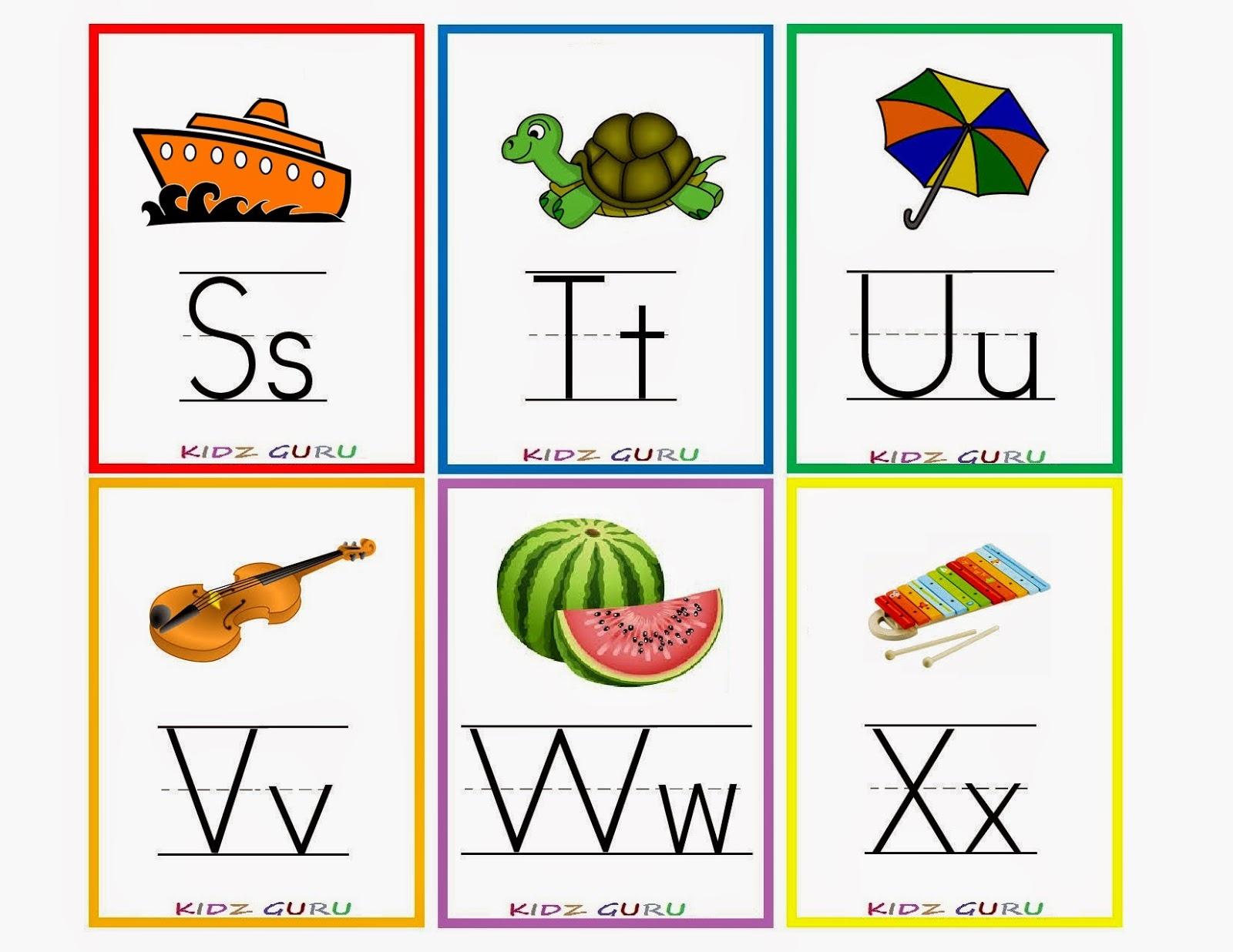 Kindergarten Worksheets: Printable Worksheets - Alphabet Flash Cards 4 - Free Printable Alphabet Flash Cards