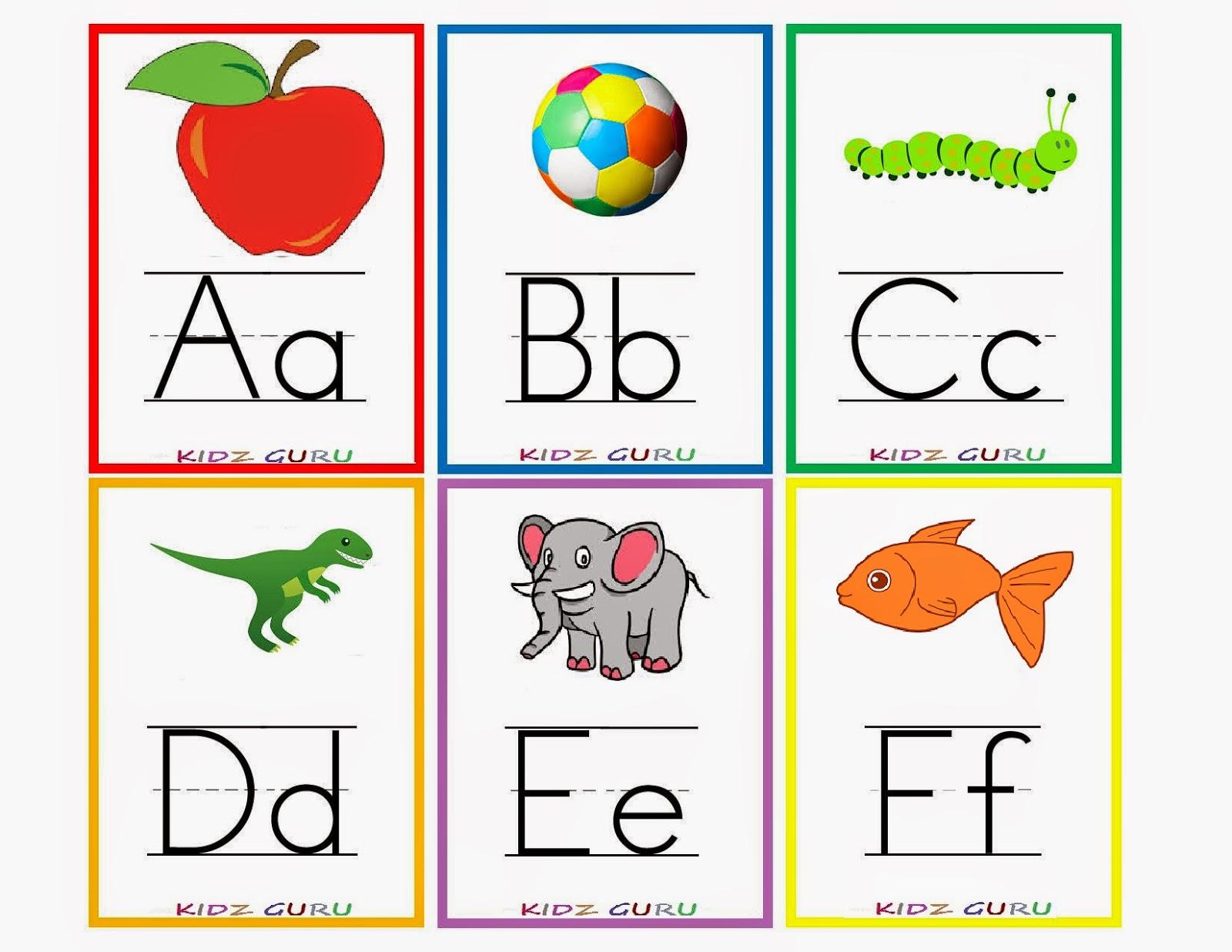 Kindergarten Worksheets: Printable Worksheets - Alphabet Flash Cards - Free Printable Alphabet Flash Cards