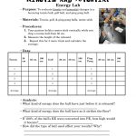 Kinetic And Potential Energy Lab.pdf | School Ideas | Kinetic   Free Printable Worksheets On Potential And Kinetic Energy