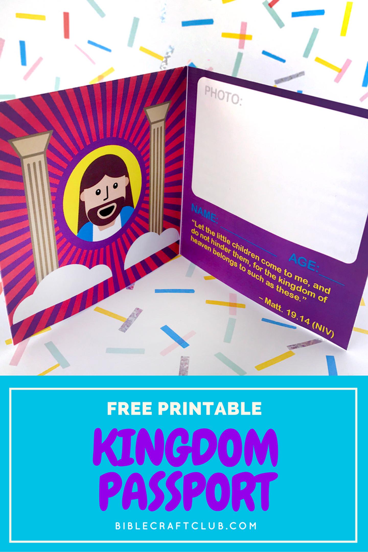 Kingdom Passport Craft | Biblecraftclub | Bible Crafts - Free Printable Bible Crafts
