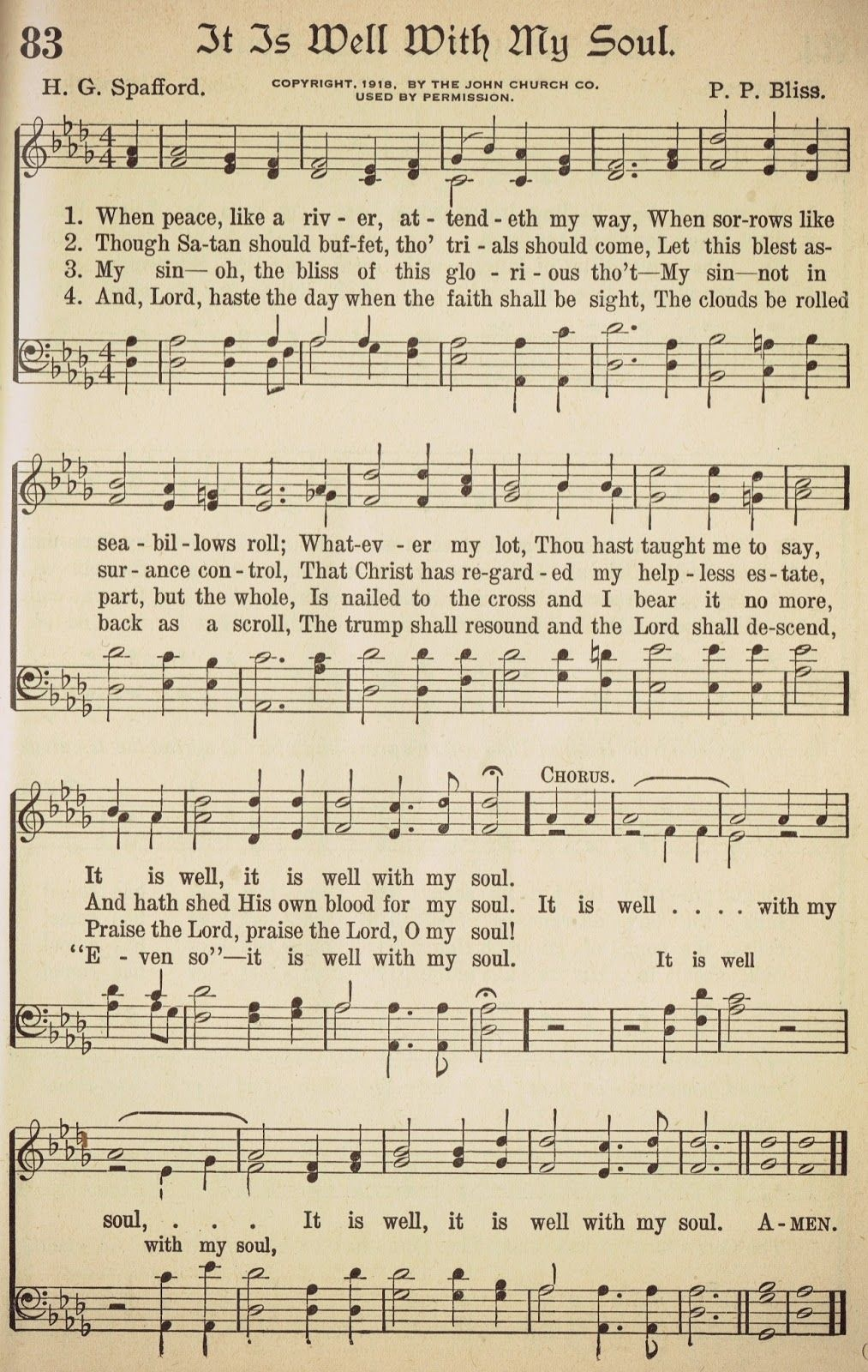 Knick Of Time: {It Is Well With My Soul} | Hymns | Christian Songs - Free Printable Lyrics To Christian Songs