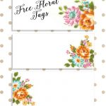 Labels: Pretty Floral Vintagetags | Best Free Digital Goods | Gift   Free Printable Name Tags